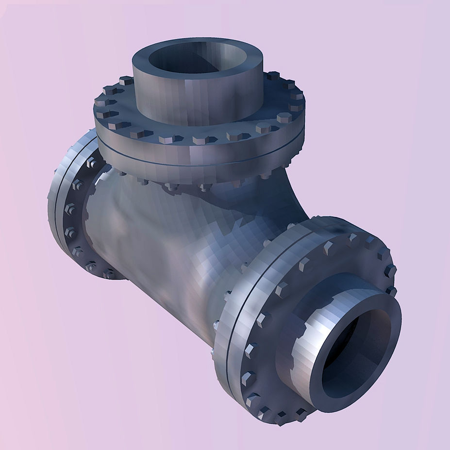 1:87 24 inch Pipe Tee